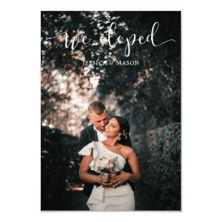We Eloped Wedding Announcement Invitations Photo