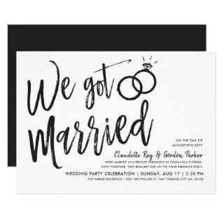 We Got Married | Post Wedding Party Invitations