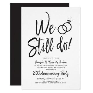 We Still Do Anniversary | Vow Renewal Script Invitations