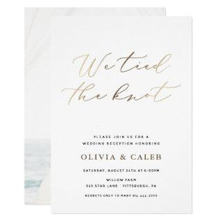 We tied the Knot Elopement Celebration Invitations