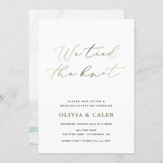 We tied the Knot Elopement Celebration Invitation