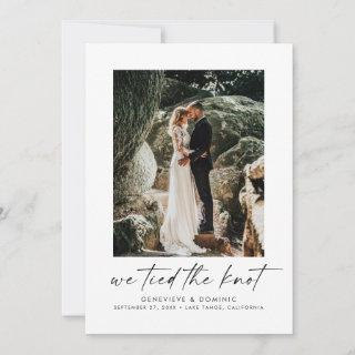 We Tied the Knot Elopement/Wedding Announcement