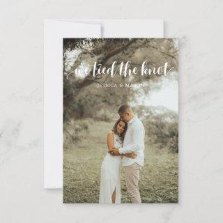 We Tied The Knot Invite Eloped Announcement Photo
