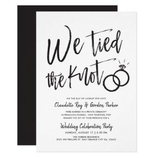 We Tied the Knot | Post Wedding Party Invitation