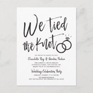 We Tied the Knot | Post Wedding Party  P Postcard
