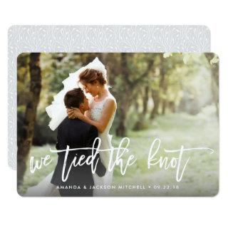 We Tied the Knot   Wedding Announcement