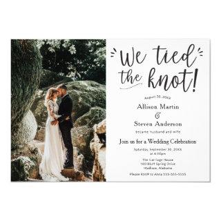 We tied the Knot with Photo Wedding Reception Invitations