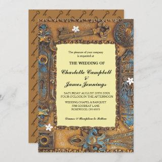 Wedding Announcement Antique Skeleton Key Invite