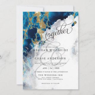 WEDDING | Blue Sapphire Watercolor BarefootBride™