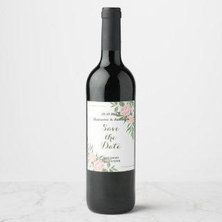 Wedding bottle label. wine label