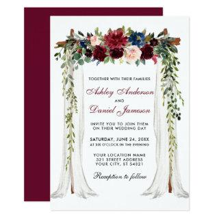 Wedding Canopy Watercolor Floral Arch Invitations