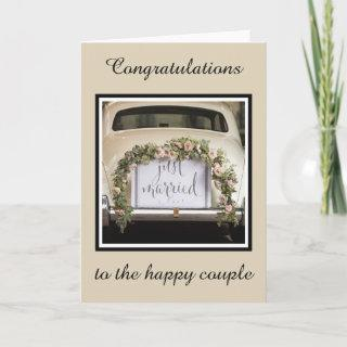 Wedding Card - Congratulations to the happy couple