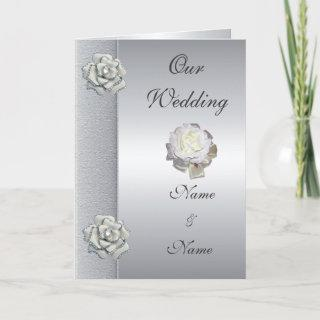 Wedding Card Save the Date Silver Grey