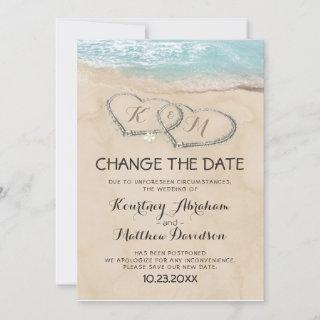Wedding Change The Date Tropical Beach Save The Date