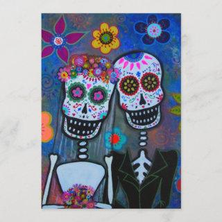 WEDDING DAY OF THE DEAD Invitations