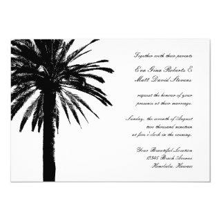 Wedding destination invitations with palm tree
