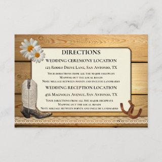 Wedding Directions and Accommodation Insert Card