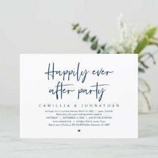 Wedding Elopement, Happily Ever after Party Invita Invitation