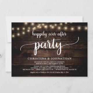 Wedding Elopement, Happily Ever After Party Invitations