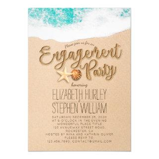 Wedding Engagement Party Summer Beach Starfish Invitations