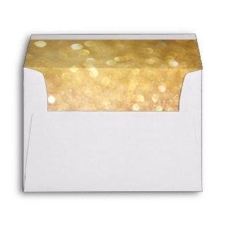 Wedding Envelope for Bokeh Movie Ticket Style Gold