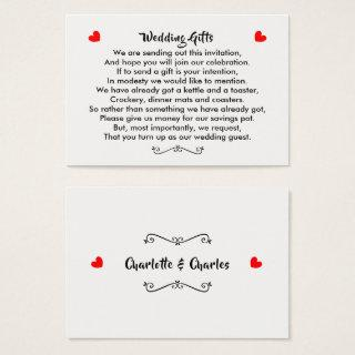 Wedding Gift Request Honeymoon Money Personalized