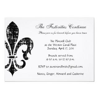 Wedding Information Card | New Orleans | Black