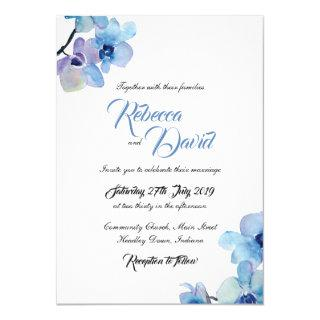 Wedding Invitations | Blue Orchid