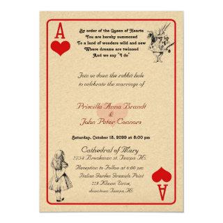 "Wedding Invitation card ""Alice in Wonderland""As5x7"