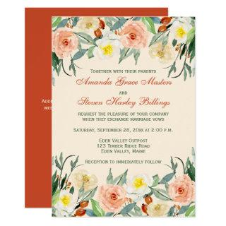 Wedding Invitation - Fall Florals