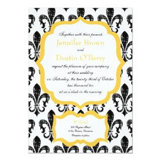 Wedding Invitations | New Orleans | Gold Alternate