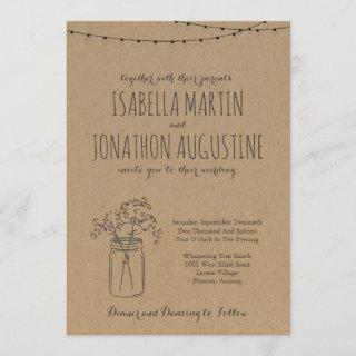 Wedding Invitation | Rustic Kraft