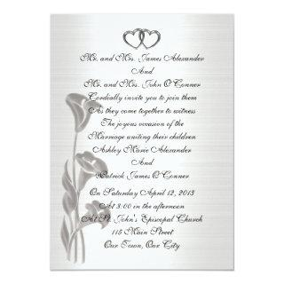 Wedding Invitations satin-look  calla lilies