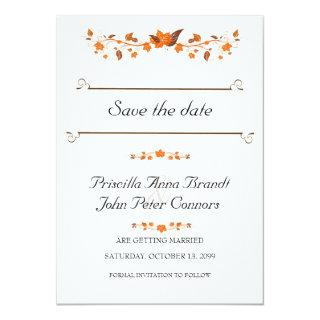 Wedding Invitations Save The Date,Fall Leaves Theme
