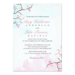 Wedding Invitations | Watercolor Cherry Blossom