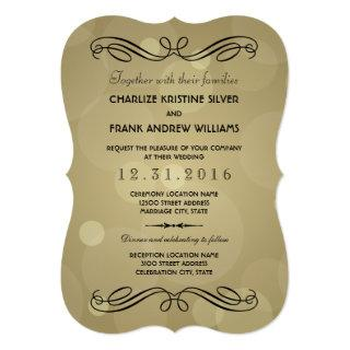 Wedding Invitations | Black and Champagne Gold
