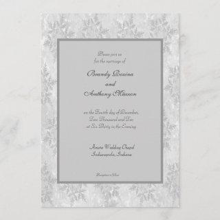 Wedding Invitations winter snowflakes wedding