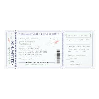 Wedding Invite Travel Boarding Pass Rsvp Meals