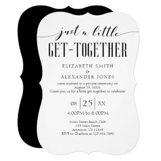 Wedding Little Get-Together Simple Party Invitations