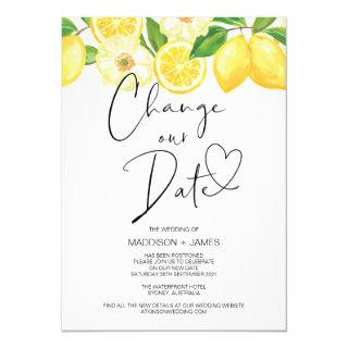 Wedding Postponed Notice Change our Date Wedding Invitations