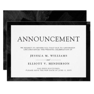 Wedding Postponement Message Plain Formal Invitations