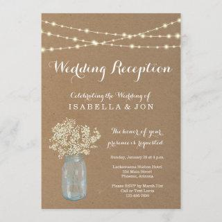 Wedding Reception Only Invitations | Rustic Kraft