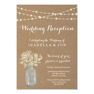 Wedding Reception Only Invitation | Rustic Kraft