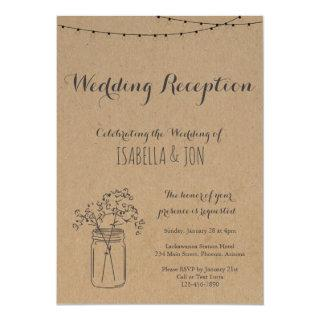 Wedding Reception Only | Rustic Kraft Paper Invitations