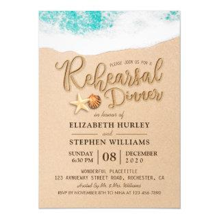 Wedding Rehearsal Dinner Summer Beach Starfish Invitations