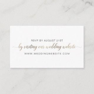 Wedding RSVP Online Card