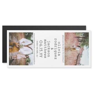 Wedding Save the Date 2 Photo Chic Modern Vertical