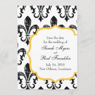 Wedding Save the Date   New Orleans   Gold