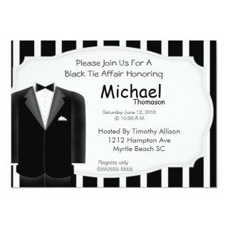Wedding Tux Bachelor  Party  Invitations