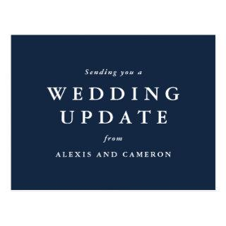 Wedding update classic postcard